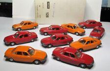 Wiking 1:87 NSU Ro 80 orange / rot OVP 128 -  10 Stück im Händlerkarton