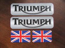 TRIUMPH GB - Aufkleber Sticker Set -> 4 Stück <- Motorrad, Caferacer, Scrambler