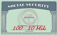 100 pk Security Card Laminating Laminator Pouches Sheets 2-5/8 x 3-7/8 10 Mil