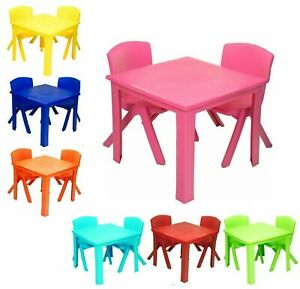 Kids Children Chairs and Table set Plastic Strong ideal for Study Indoor Outdoor
