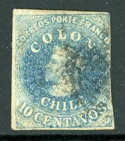 Chile 1853 First Issues 10¢ Columbus  VFU F927