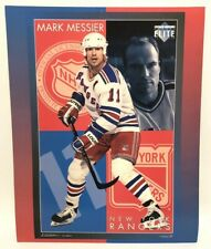 Vintage 1994 Mark Messier NHLPA Hockey New York Rangers Poster Cardboard Elite