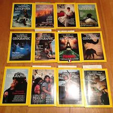 1989 National Geographic Magazine Complete Year Yellowstone Fires
