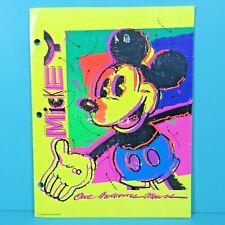 Vintage Walt Disney Mead Portfolio Folder Electric Mickey One Awesome Mouse Used