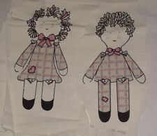 Homespun Doll Panel Fabric makes Boy and Girl Dolls Weilwood Industries Panel