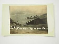 WWI Co.C Mess Hall after the Storm 1st N.H. RPPC Real Photo Postcard