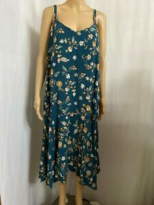 PIPER  SIZE 16 SLEEVELESS FLORAL  DRESS   cool viscose