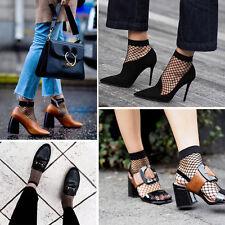 Fashion Women Fishnet Ankle High Socks Mesh Lace Anklet Fish Net Short Socks