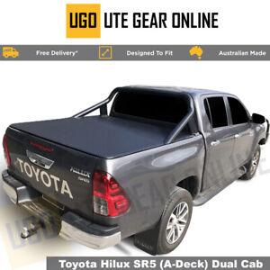 Tonneau Cover Fit TOYOTA HILUX SR5 A-DECK DUAL CAB Clip On (Sept 15 - Current)