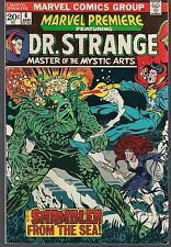 "MARVEL PREMIERE #6 DR. STRANGE 01/73 ""SHAMBLER FROM THE SEA"" BRUNNER BUSCEMA VF+"