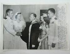 1954 Press Photo Lt JG Roland Busch, Edward Starrett CMDR Winterstein Korean War