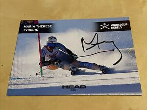 Originalautogramm Maria Therese Tviberg - Ski-Alpin - Norwegen