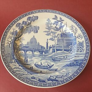 Extra Large Spode Blue Room Collection Rome 32cm Charger Platter Plate