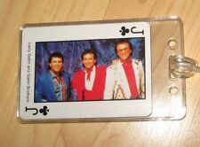 Larry Gatlin Brothers Luggage Tag - Vintage 1980's Country Music Playing Card