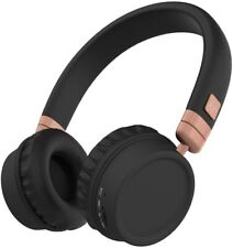 KITSOUND HARLEM OVER EAR HEADPHONES WIRELESS BLUETOOTH 30 HOURS PLAY ROSE GOLD