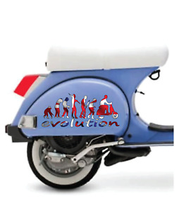 VESPA PX 125 150 200 LML SCOOTER EVOLUTION SIDE STICKERS DECALS GRAPHICS