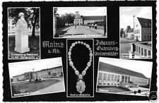 AK, Mainz, Johannes-Gutenberg-Universität, sechs Abb., gestaltet, 1961