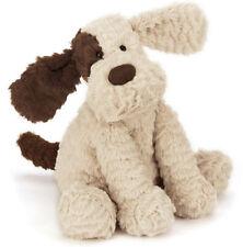 "Jellycat London Fuddlewuddle Patch Puppy Dog 20"" Stuffed Animal Retired HTF"