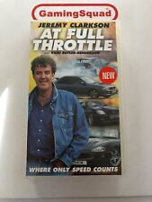 Jeremy Clarkson At Full Throttle VHS Video Retro, Supplied by Gaming Squad