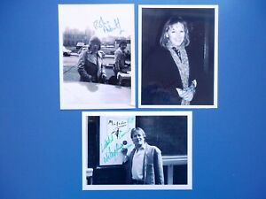 Actors - Robin Askwith - Nicky Henson - Patricia Brake - 3 Signed Candid Photos