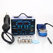 Yihua 862BD+ SMD Electric Rework Soldering Iron Station Hot Air Gun Kit w Stand