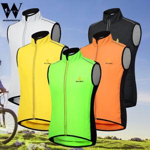 Reflective Cycling Vest Windproof Sportswear MTB Bike Racing Sleeveless Jacket