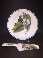 Vintage ANDREA BY SADEK Porcelain CAKE PLATE and SERVER WILLIAMSBURG Mint