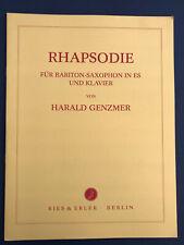 Rhapsodie für Bariton-Saxophon in Es & Klavier, Harald Genzmer