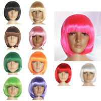 14 Colors Party Unisex Short Costume Bob Hair Wigs Synthetic fiber Halloween