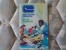 1971-72 VANCOUVER CANUCKS MEDIA GUIDE YEARBOOK 2ND NHL YR Hockey 1972 Program AD