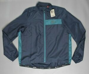 NEW Pearl Izumi Men's Select Barr Jacket Navy/Teal Relaxed Fit Size XL $75