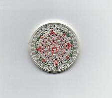 Mayan Calender Coin Silver Colour with detailing SEE PICTURES