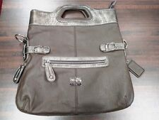 Nice Women's Large Tote Bag Purse Handbag Brown & Gray Similar To Coach
