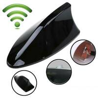 Black Auto SUV Shark Fin Aerial Antenna Roof AM/FM Radio Decorative Universal