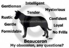 Beauceron Dog My Obsession,Questions? T-shirt ,Ls, or Sweatshirt Choice