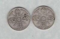 TWO 1911 & 1912 GEORGE V SILVER FLORINS IN FINE OR BETTER CONDITION
