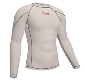NEW MENS COMPRESSION BASE LAYER  FULL SLEEVE TOP WHITE BEST QUALITY SPORT PANT