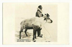 Kotzebue Alaska Chester Sevick Eskimo Chief Reindeer Herder RPPC Snow Winter