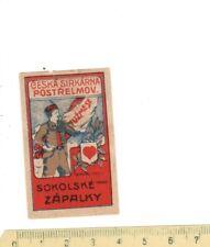 Old Matchbox  label/s 13 AUSTRIA / CZECHOSLOVAKIA