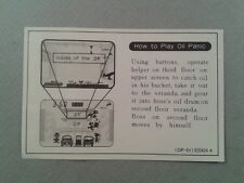 NINTENDO GAME&WATCH MULTISCREEN OIL PANIC OP-51 ORIGINAL HOW TO PLAY SHEET READ