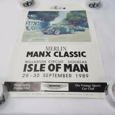 Merlin Manx Racing Club Aston Martin Poster - 60cm x 42cm