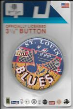 VINTAGE NHL HOCKEY 3.5'' BUTTON PIN BADGE ST. LOUIS BLUES NIP
