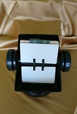 Rolodex vintage black office contact card holder