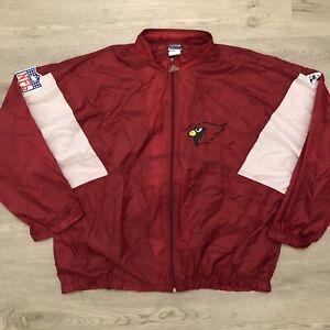 Arizona Cardinals NFL Apex One Mens Lightweight Windbreaker Jacket Size 2XL