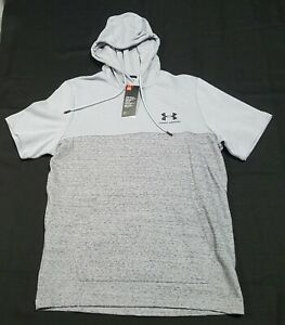 Under Armour Mens Short Sleeve Hooded Shirt 1330286 035 gray