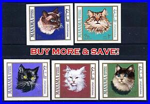 MANAMA = DOMESTIC CATS (imperforated) MNH ANIMALS (L4)