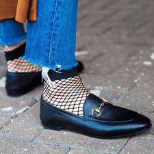 2pcs Women Ruffle Fishnet Ankle High Sock Short Casual Mesh Lace Fish Net Soft