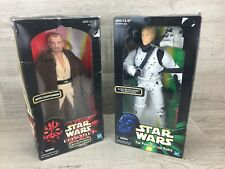 Star Wars Luke Skywalker With Dianoga Tentacle & Qui Gon Jin Action Figures