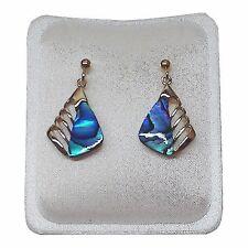 Paua Jewelry - Gold Plated Stud Earrings (PE200)