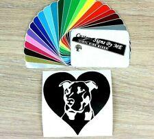 We Heart Love Staffie Car Sticker Wall Bumper Laptop Vinyl Decal Adhesive Black
